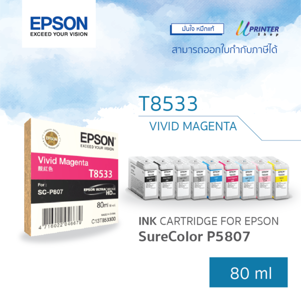 EPSON ink T853300 for P807