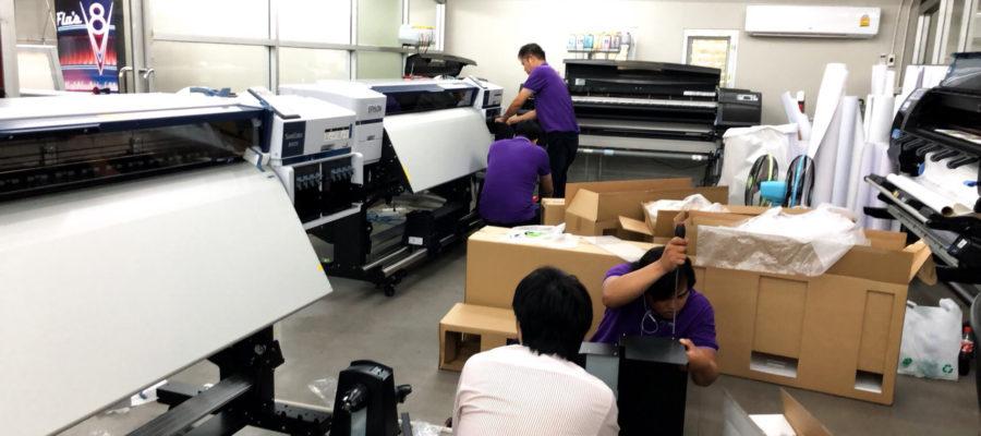 uPrinter installation team Epson LFP Expert (2)