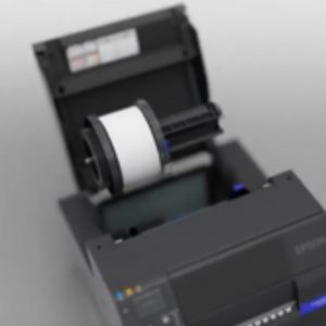Epson ColorWork C6050A C6050P C6550A C6550P CW-C6050A CW-C6050P CW-C6550A CW-C6550P Label Printer Color Inkjet uPrinterShop Rool paper adapter media installation