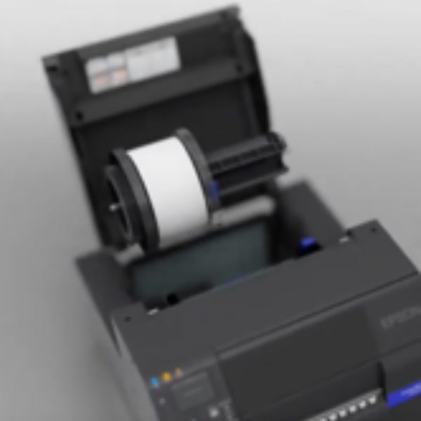 Epson ColorWork C6050A C6050P C6550A C6550P CW-C6050A CW-C6050P CW-C6550A CW-C6550P Label Printer Color Inkjet uPrinterShop Rool paper adapter media installation