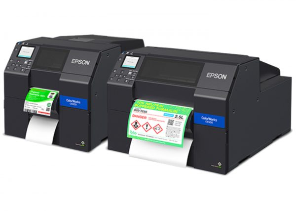 Epson ColorWork CW-C6050P C6050P CW-C6550P C6550P Label Printer Color Inkjet Auto Peeler Model 4 inch 8inch uPrinterShop Peel off